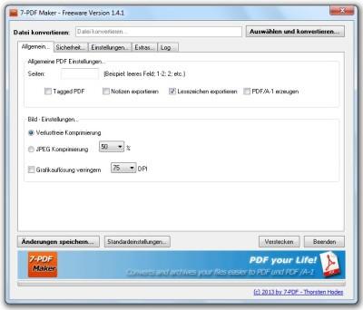 7-PDF Maker 1.5.3 screenshot
