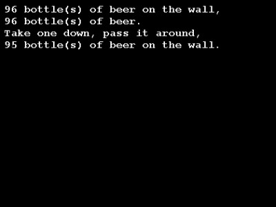 99 Bottles of Beer Screensaver 4.00 screenshot
