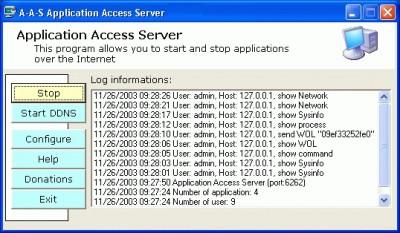 A-A-S Application Access Server 2.0.46 screenshot