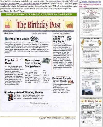A Birthday Post 2007 screenshot