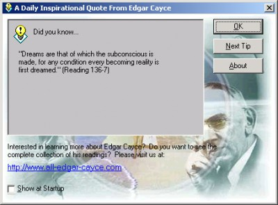 A Daily Inspirational Quote From Edgar Cayce 1.0.1 screenshot
