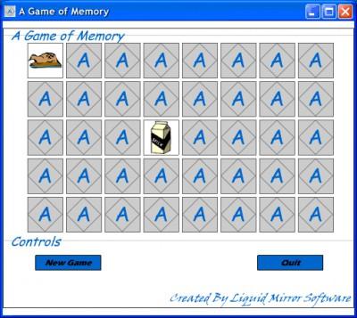 A Game of Memory 1.0 screenshot