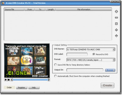 A-one DVD Creator 7.6.3 screenshot