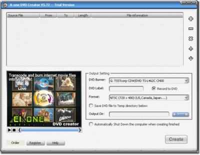A-one DVD Creator 7.6.3 screenshot