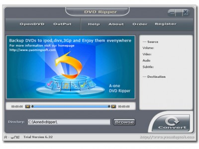 A-one DVD Ripper Platinum 6.29 screenshot