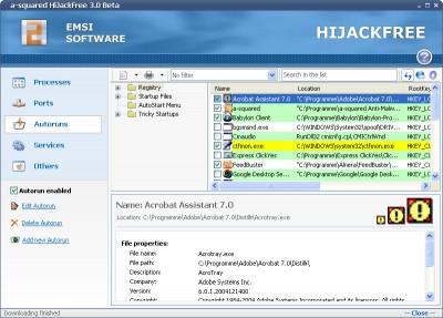a-squared HiJackFree 3.1.0.22 screenshot