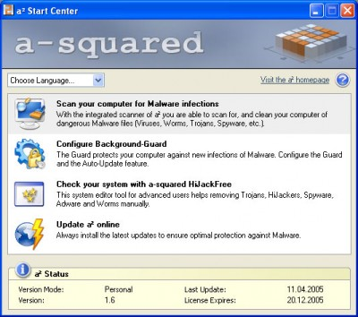 a-squared Personal 1.6.1 screenshot