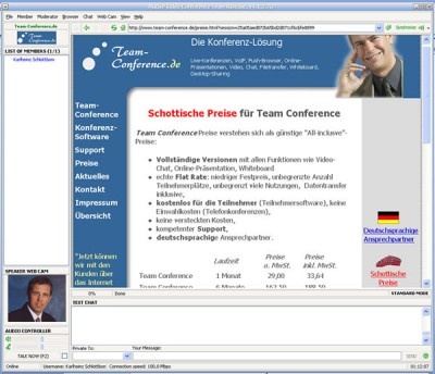 A Team Conference Web-Conferencing 4.1.2 screenshot