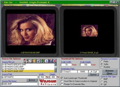 A Webmaster Thumbnail Cruncher 2.3 screenshot
