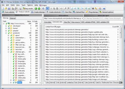 A1 Sitemap Generator 10.1.4 screenshot