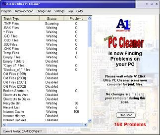 A1Click Ultra PC Cleaner 1.03.06 screenshot