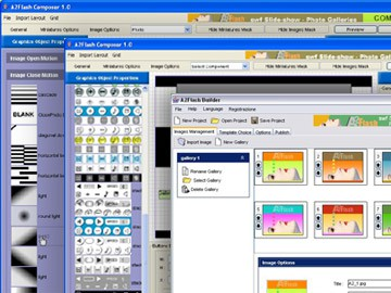 a2 flash slideshow photo-gallery editor 1.0 screenshot
