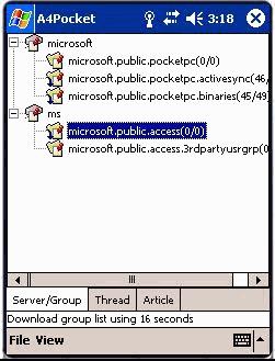 A4Pocket Newsreader 2.1.6 screenshot