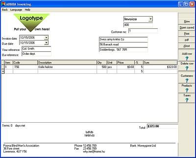 AB Invoicing 10.3.5.0 screenshot