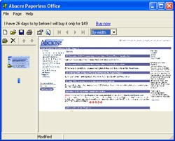 Abacre Paperless Office 1.0 screenshot