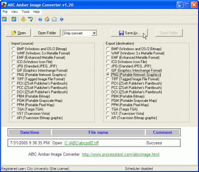 ABC Amber Image Converter 3.07 screenshot