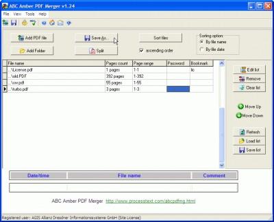 ABC Amber PDF Merger 3.05 screenshot