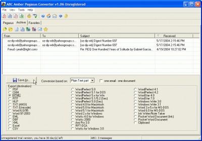 ABC Amber Pegasus Converter 5.06 screenshot