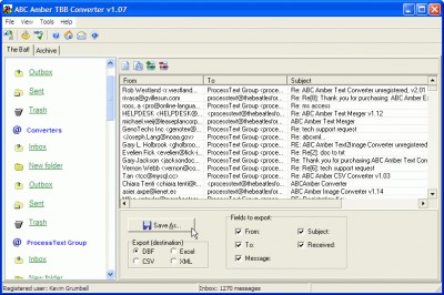 ABC Amber TBB Converter 3.06 screenshot