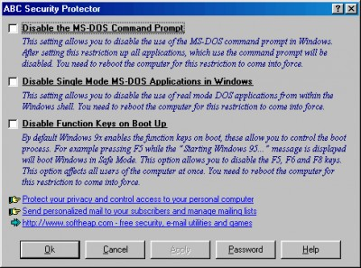 ABC Security Protector 5.5994 screenshot