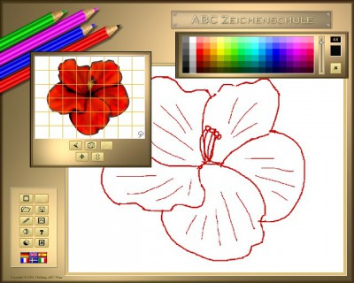 abc zeichenschule vi blumen logiciel t l charger apprendre dessiner des fleurs. Black Bedroom Furniture Sets. Home Design Ideas