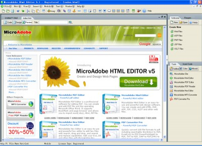Abdio Html Editor 5.9 screenshot