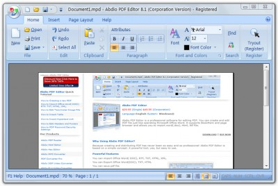 Abdio PDF Editor 9.89 screenshot