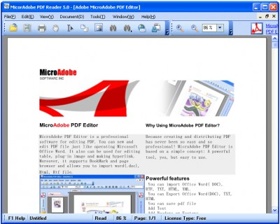 Abdio PDF Reader 5.7 screenshot
