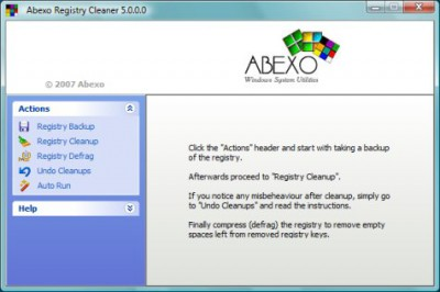 Abexo Registry Cleaner 5.3.1 screenshot