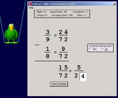 Abilities Builder Add & Subtract Fractions 3.1 screenshot