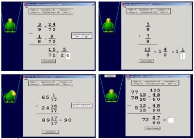Abilities Builder Add & Subtract Fractions 3.5 screenshot
