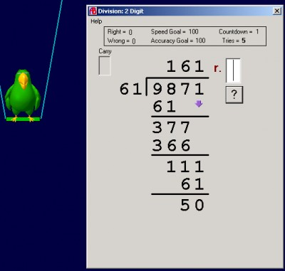 Abilities Builder Divide  Whole Numbers 6.1 screenshot