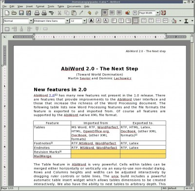 AbiWord 2.4.6 screenshot