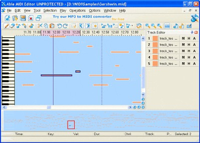 Able MIDI Editor 1.3 screenshot