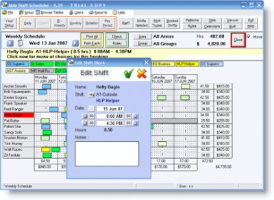 Able Staff Scheduler 5.0.91 screenshot