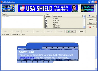 Able Submitter 2.2 screenshot