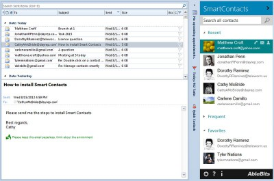 Ablebits.com Smart Contacts for Outlook 1.0 screenshot