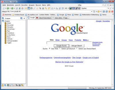 Abolimba Multibrowser 6.01 screenshot
