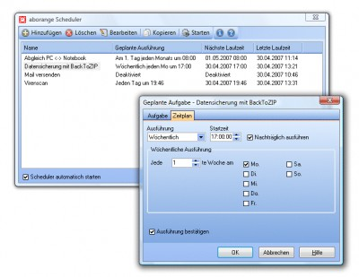 aborange Scheduler 3.80 screenshot