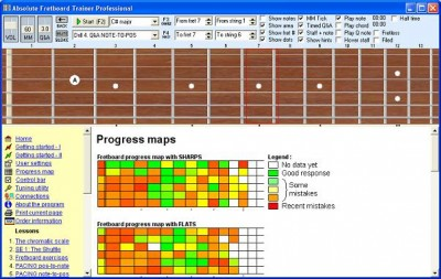 Absolute Fretboard Trainer 3.x screenshot