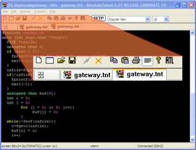 AbsoluteTelnet Telnet / SSH Client 10.16 screenshot