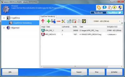 abylon CRYPTDRIVE 15.90.1 screenshot