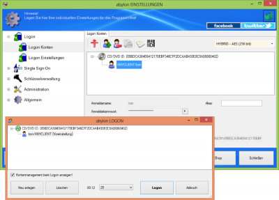 abylon LOGON 15.90.1 screenshot