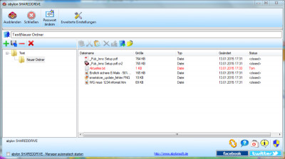 abylon SHAREDDRIVE 15.90.1 screenshot
