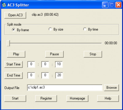 AC3 Splitter 1.2.0.9 screenshot
