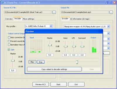 AC3Tools Pro 1.21.096 screenshot