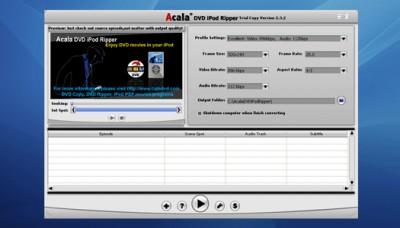 ACALA - DVD iPod Ripper 2.9.6.003 screenshot