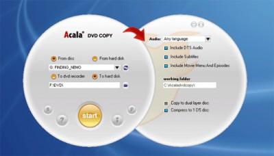Acala DVD Clone 2.1.9 screenshot