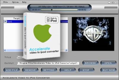 ACCEL Video to iPod Converter 2008.243 screenshot
