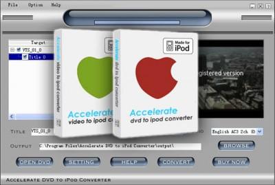 Accelerate DVD + Video to iPod 2007.03 screenshot